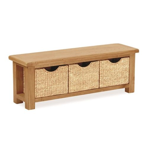 Stockton Bench with Baskets